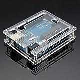 Gaoxing Tech. Uno R3 Gehäuse Gehäuse Neue transparente Glanz Acryl Computer Box kompatibel mit Arduino UNO R3