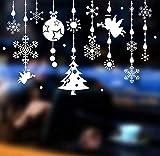 QTXINGMU Wand Aufkleber Weiße Weihnachten Fensterdekoration Malerei PVC-Aufkleber Für Die Umwelt