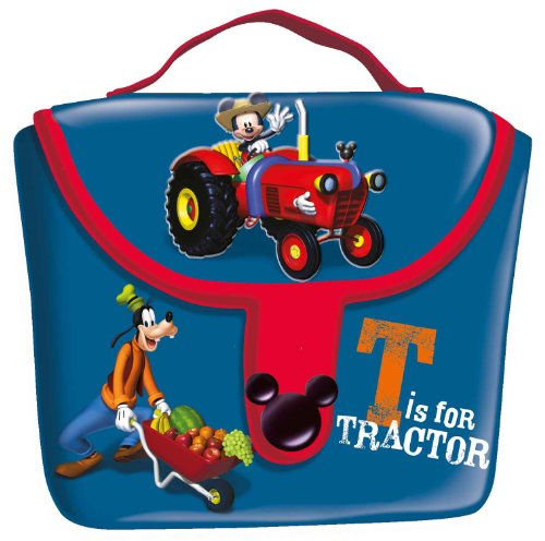 Mickey Club House UVA Fragola Lunch Bag with Bib and Napkin