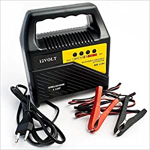 Caricabatterie carica batterie auto 12v 4 ampere amazon for Caricabatterie auto moto lidl