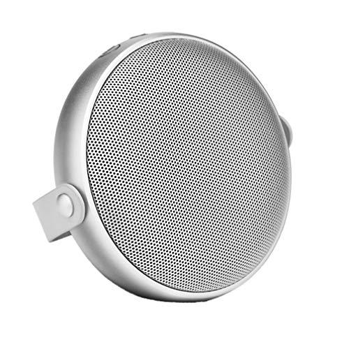 Drahtlose Bluetooth-Speaker, Wireless Metal Mini Cannon, Subwoofer Mini Portable Bluetooth Speaker, USB Interface, Button Operation, Support TF Card,White