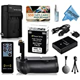 Multi Power Battery Grip + Ultra High Capacity EN-EL14 ENEL14 Replacement Battery (1800mAh) + Replacement AC/DC Rapid Battery Charger With Car & European Adapter + Wireless Shutter Release Remote Control For Prints + Lens Cleaning Kit For Nikon D5100