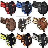 Radical Leather - Sella da Cavallo in Miniatura per Ragazzi, Multiuso, in Pelle Sintetica, con Cintura e Cinturino in Pelle, Disponibile da 25,4 a 30,5 cm