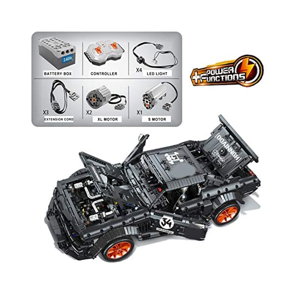 Tosbess Technic Auto Sportiva Ford Mustang, 3168 Pezzi Blocchetti di Costruzione Compatibile con Lego Technic 1 spesavip