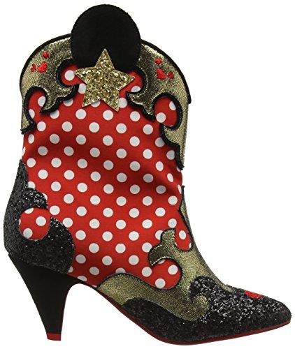 Irregular Choice Damen Hot Diggety Dog Cowboy Stiefel Red (Red/White/Black)