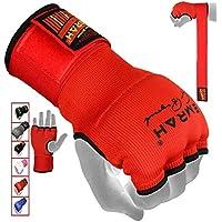 EMRAH Cinta Boxeo Vendas Mano Muñeca Elasticas Interiores Guantes MMA Envolturas Vendaje Kick Boxing -X (Grande, Rojo)