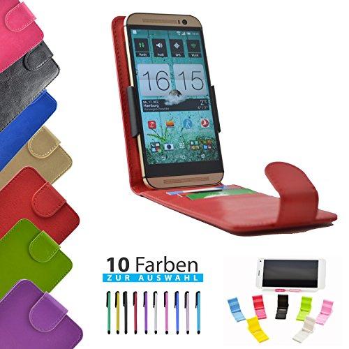 ikracase 4 in 1 Set Hülle Flip Handyhülle für TP-Link Neffos C5s Smartphone Hülle Tasche Case Cover Schutzhülle Handytasche Etui in Rot