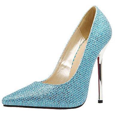 Moda Donna Sandali Sexy donna tacchi Primavera / autunno Altri Glitter Wedding / Party & sera abito / Stiletto Heel scintillante blu glitter / Blue