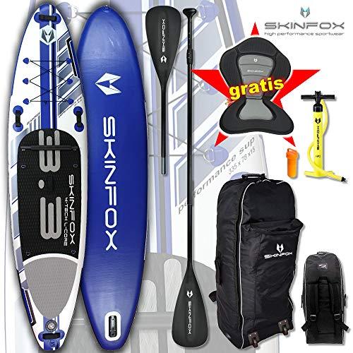 SEACOASTAR SUP BoardPaddelboard aublasbar blau Set ALU-Set inkl. Kayak-Seat (Board,Bag,Pumpe,Repair-Set,ALU SUP-/Kayak Paddel+Kayak-Seat) ERSPARNIS: 35 Euro