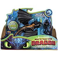 Dragons DreamWorks Toothless and Hiccup, Armored Viking Figure