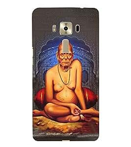 FUSON Shree Swami Samarth Guru 3D Hard Polycarbonate Designer Back Case Cover for Asus Zenfone 3 Laser ZC551KL (5.5 Inches)