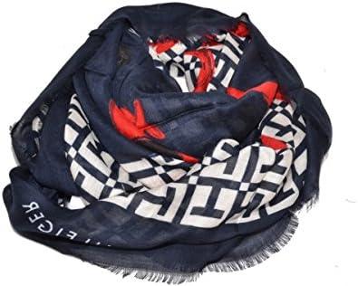 Tommy Hilfiger Logo Mascot Scarf, Parte De Arriba De Bikini para Mujer, Rojo (Tommy Navy/Oatmeal/Tommy Red), Talla Única (Talla del Fabricante: OS)