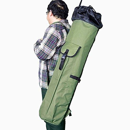 hamhsin impermeabile ispessimento tela Canna da pesca e mulinello borsa Organizer da viaggio per biglietti, contiene 5pali e affrontare
