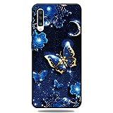 Ultra Dünn Slim Weich TPU für Samsung A50,Kreative Durchsichtiges Klar Transparent Flexible 3D Flower Cartoon Gel Gomma Sparkle Bling Glitter Silikon Schutz Handy Bumper -