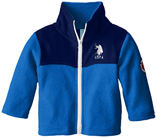 US Polo A.s.s.n Baby Fleece Jacke mit eingesticktem Polo Reiter Logo (Blau) - Fleece Polo