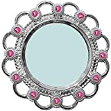 Baal Fancy Mirror For Wall Mirror For Bedrooms Mirror For Wall Hanging Mirror For Makeup Wall Mirror For Home Decoration Wall Mirror For Living Room, 80 Gram, Silver, Pack Of 1