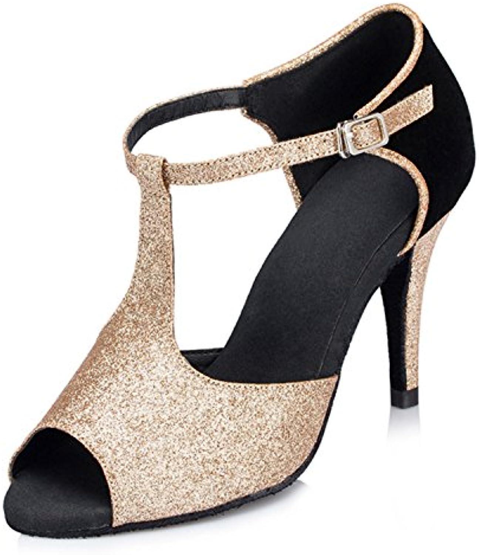 YFF  Dono donne scarpe scarpe scarpe da ballo sala da ballo latino ballare il tango scarpe da ballo 7.5CM 8CM | Imballaggio elegante e robusto  9b0732