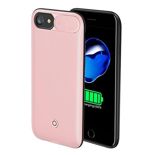 Custodia Batterie iPhone 6 Plus/6s Plus, 7500mAh Esterno Portatile Ricaricabile Power Bank Extra Pack Extended Batteria Integrata Custodia Protettiva Cover per iPhone 6 Plus/6s Plus (Oro Rosa)