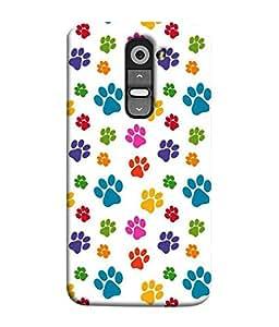 Nextgen Designer Mobile Skin for LG G3 Mini (Paws Animal Paws Tiger Paws Dog Paws Colourful PAws)