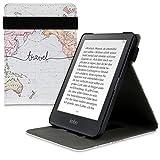 kwmobile Funda para Kobo Clara HD - Carcasa con [Tapa Vertical] y [Soporte] para e-Book - Case Flip de [Cuero sintético]