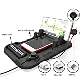 #2: Taslar Fixate Cell Pads++Cradle Dock With 3 In 1 Charging Cable With Magnetic Adsorption Stander,Black