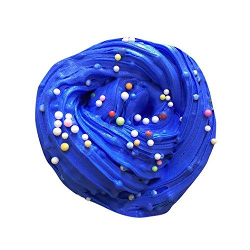 Preisvergleich Produktbild DOLDOA Stress Relief Spielzeug, Kinder Spielzeug Flauschig Slime Putty Duft Stress Relief Kein Borax Schlamm Spielzeug (blau)