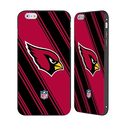 Ufficiale NFL Pattern 2017/18 Arizona Cardinals Nero Cover Contorno con Bumper in Alluminio per Apple iPhone 6 Plus / 6s Plus Righe