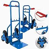 Masko Treppenkarre Sackkarre 200kg Transportkarre Treppensteiger Stapelkarre, Farbe:Blau