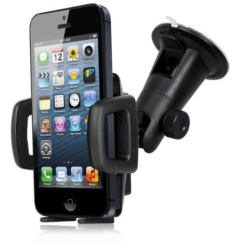 Wicked Chili KFZ-Halterung AntiShock für Apple iPhone SE / 5S / 5C / 5 / 4S / 4 / 3Gs - iPod Touch 5 / 4 / 3 (Bumper kompatibel) schwarz