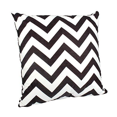 BIGBOBA Funda algodón sofá almohada de rayas en blanco y negro suave decorativo Sofá almohada funda...