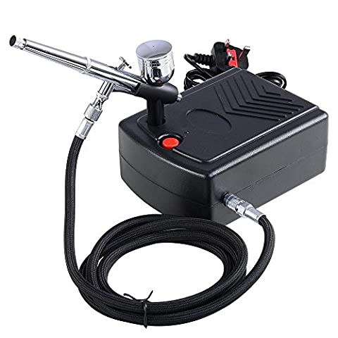 ReaseJoy Pro Airbrush Compressor 0.3mm 7cc Dual-Action Spray Gun Makeup Airbrush Kit for Nail Art Paint