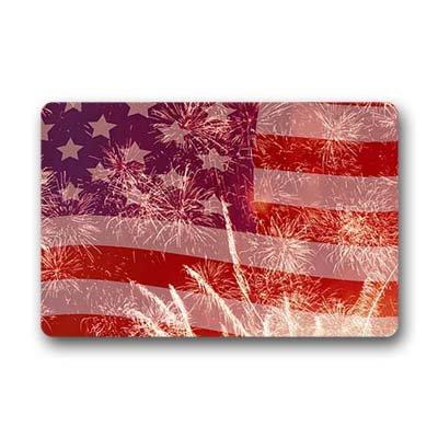 """Dalliy bandiera americana. Zerbino Personalizzato Doormat 23.6""""x15.7"""" about 59.9cmx39.8cm"""