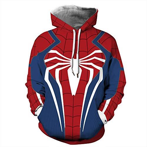 Themen Familien Kostüm Fun - MSSugar Unisex 3D gedruckt Pullover Halloween Themen Drucke Pullover Cosplay Kostüm Spider-Man weit Weg von zu Hause Pullover Hoodie,A,XXL