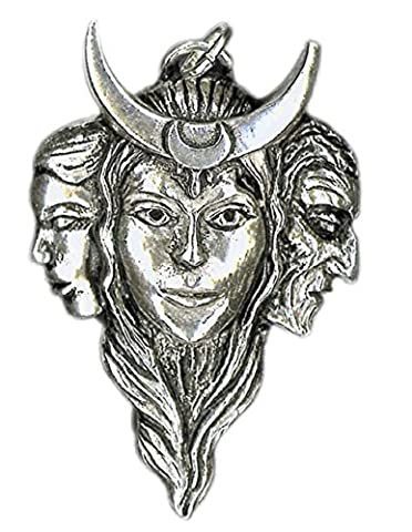 Triple Goddess Pendant for Love & Harmony - Sterling Silver Pendant with Black Cord Necklace from Sigils of the Craft Collection - Gift Boxed