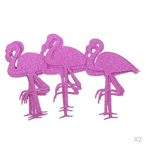 Papier Flamingo Aufkleber Flasche Cup Label Decals DIY Kunst Handwerk ()