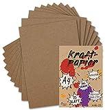 75 Kraftpapier-Karten DIN A4 Natur-Braun Umweltpapier 21,0 x 29,7 cm - 280 g/m² Recycling-Papier 100% ökologische Brief-Bogen von Ihrem Glüxx-Agent