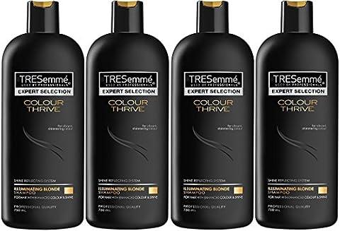 4x TRESemme Colour Thrive Illuminating Blonde Shampoo,