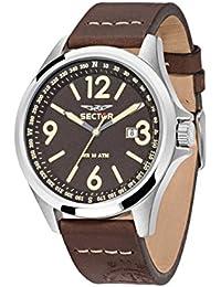 Sector Herren - Armbanduhr 180 Analog Quarz Leder R3251180009