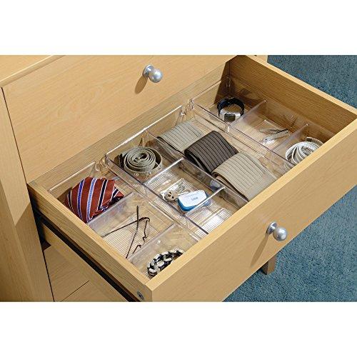 InterDesign Linus Schubladenbox für Schrank oder Schminktisch, 33,0 cm x 22,9 cm x 5,7 cm Aufbewahrungsbox mit 4 Fächern aus Kunststoff, durchsichtig - 5