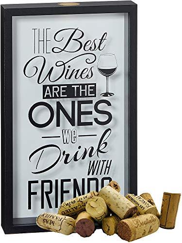 itsisa Weinkorken Bild 21x35 cm - Korkensammler, Korkenbox, Weinkorkensammelbox, Geschenk Weintrinker