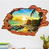 zooarts Sunrise playa paisaje extraíble pared vinilo adhesivo adhesivos