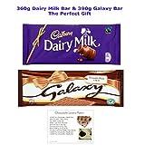 360g Dairy Milk Bar and 390g Galaxy Bar Massive Chocolate...