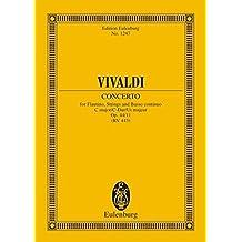 Concerto C-Dur: op. 44/11. RV 443 / PV 79. Flautino (Blockflöte), Streicher und Basso continuo. Studienpartitur. (Eulenburg Studienpartituren)