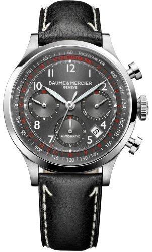 Baume & Mercier Capeland Automatic Chronograph Steel Mens Luxury Strap Watch 10003