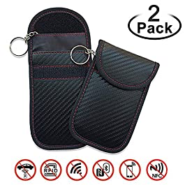 EasyULT Mini RFID Keyless Schermatura Custodia Chiave Protezione Blocker Radioprotezione Keyless Auto,Faraday Key Bag…
