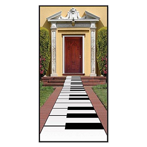 (Beistle Piano Tastatur Läufer, 24von 3M wahr, weiß/schwarz)