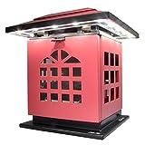 HLC® Tragbare Tea Kerzen-Leuchte Schreibtischlampe mit Akku 2002 mAh Power Bank Ladegerät zum Aufladen von Smartphones und Tablet,mobil aufladbare LED Tischlampe auch als Kerzenständer ersetztbar, Rot