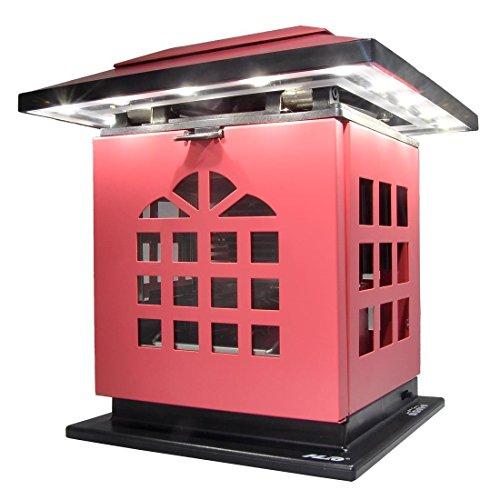 Preisvergleich Produktbild HLC® Tragbare Tea Kerzen-Leuchte Schreibtischlampe mit Akku 2002 mAh Power Bank Ladegerät zum Aufladen von Smartphones und Tablet,mobil aufladbare LED Tischlampe auch als Kerzenständer ersetztbar, Rot