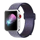 HILIMNY pour Bracelet Apple Watch 38MM, Bracelet Sport Doux Nylon Remplacement pour...