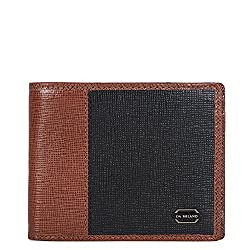 Da Milano Black and Con Mens - Wallet (MW-0493_BLK/CON_SAFFIANO)